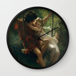 Springtime by Pierre-Auguste Cot 1873, French Wall Clock