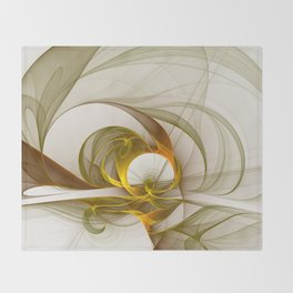 Fractal Art Precious Metals, Abstract Graphic Throw Blanket