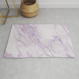Marble Love Purple Metallic Rug