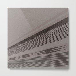 Abstract asymmetrical pattern in beige tones . Metal Print