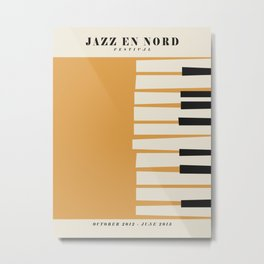 Vintage poster-Jazz festival-Jazz en nord 1. Metal Print