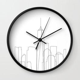 New York City Skyline Outline Wall Clock