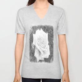 Pink Roses in Anzures 4 Charcoal Unisex V-Neck