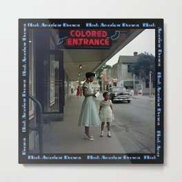 African American Masterpiece 'Alabama '65 - Black American Dream Plan B' Metal Print