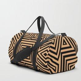 African Geometric Tribal Pattern 2 Duffle Bag
