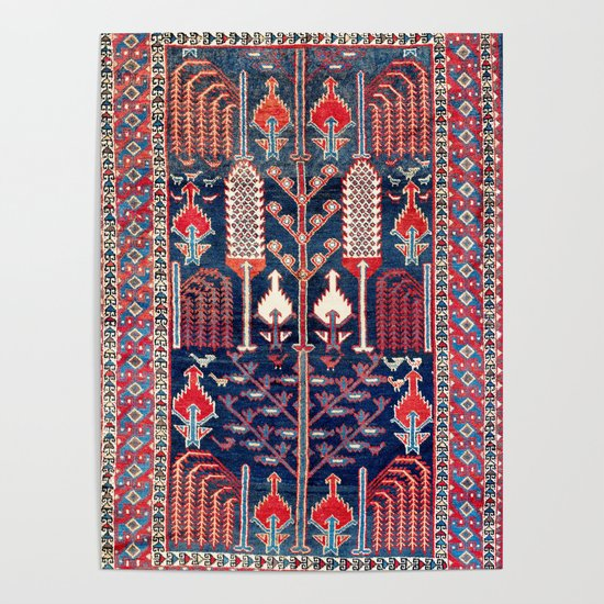 Luri Bakhtiari West Central Persian Rug Print by vickybragomitchell