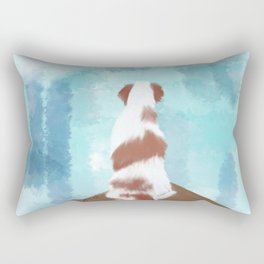 Deschutes The Brittany Spaniel Rectangular Pillow