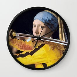 """Vermeer's """"Girl with a Pearl Earring"""" & Kill Bill Wall Clock"""