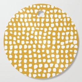 Dots / Mustard Cutting Board