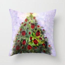 where ladybugs sleep in winter Throw Pillow