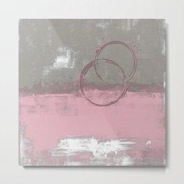 Gray pink theme #37 Metal Print