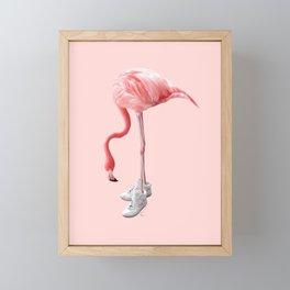 SNEAKER FLAMINGO Framed Mini Art Print