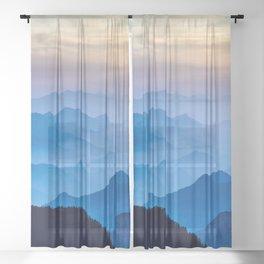Mountains 11 Sheer Curtain