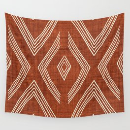 Birch in Rust Wall Tapestry