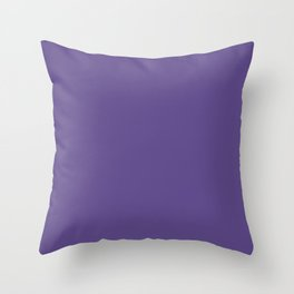 Solid Color Series - Ultra Violet Pantone Color 2018 Throw Pillow
