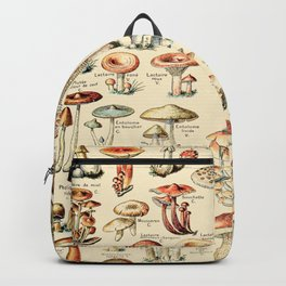 Trippy Vintage Mushroom Chart // Champignons by Adolphe Millot XL 19th Century Science Artwork Backpack
