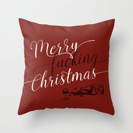 Merry f*cking Christmas Throw Pillow