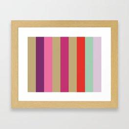 EPHEMERAL : (E)cru (P)urple (H)ot Pink (E)cru (M)agenta (E)cru (R)ed (A)quamarine (L)avender.  Framed Art Print