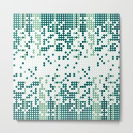 Tiny circles gradient Metal Print