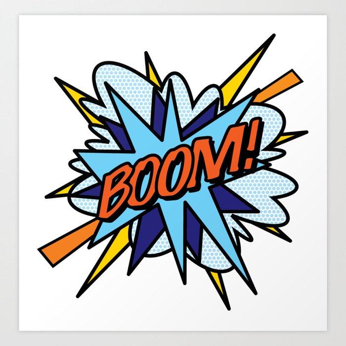 BOOM Comic Book Flash Pop Art Cool Fun Graphic Typography Kunstdrucke