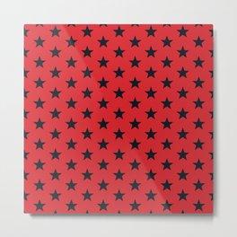 Superstars Black on Red Medium Metal Print