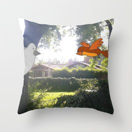 Happy Flying Throw Pillow