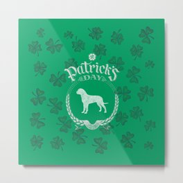 St. Patrick's Day Bullmastiff Funny Gifts for Dog Lovers Metal Print