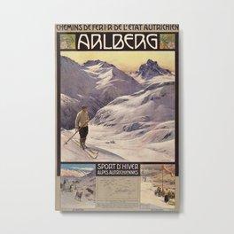 Arlberg Vintage Travel Poster Metal Print