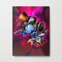 Street Clown Lost in Space Metal Print