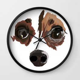 I love your little puppy face Wall Clock