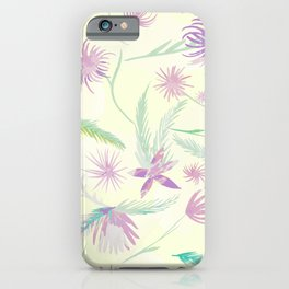 Pink palm - watercolour iPhone Case