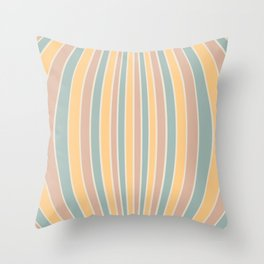 Warped Stripes - Vintage Pastel Colors Throw Pillow