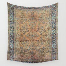 Kashan Floral Persian Carpet Print Wall Tapestry