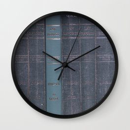 Antique Law Books Row Pattern Wall Clock