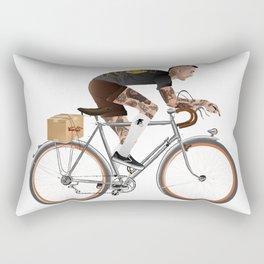 Bike Driver Rectangular Pillow
