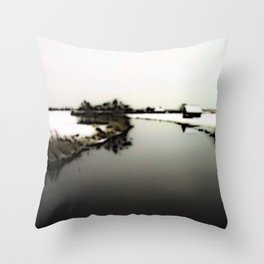 Stagnant moment Throw Pillow