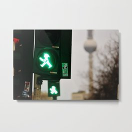 Berlin Ampelmännchen TV Tower Karl Marx Allee Metal Print