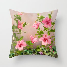 The Beauty of Hawaiian Hibiscus Throw Pillow