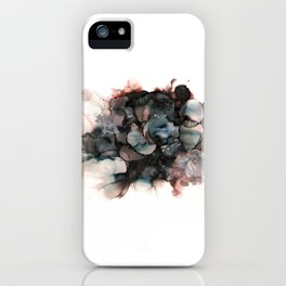 alcohol ink - pitch black 2 iPhone Case