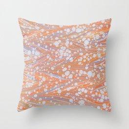 Sunrise, Antique Straight Marbling Pattern    Throw Pillow