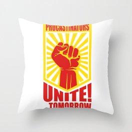 Postpone Drückeberger Faul Mindset Gift Throw Pillow