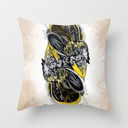Bird sleeping Throw Pillow
