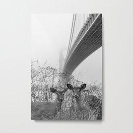 Pandemic Deer Metal Print