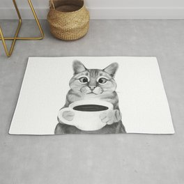 coffee cat Rug