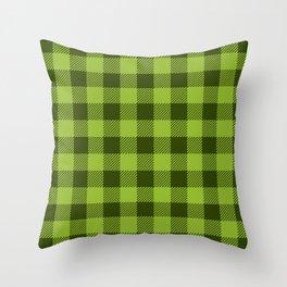 Buffalo Plaid: Green Throw Pillow