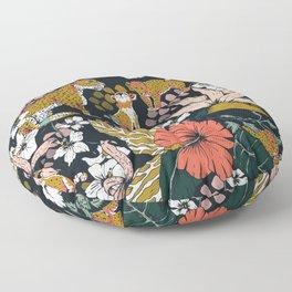 Animal print dark jungle Floor Pillow