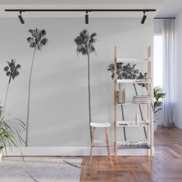Black & White Palms Wall Mural