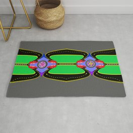 Hot Four Retro Wheels II Rug