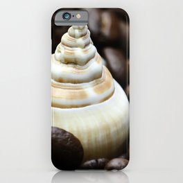 Coffee bean snail iPhone Case