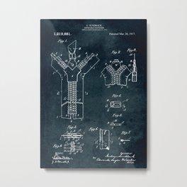 1914 - Separable fastener Metal Print